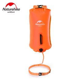 Discount double g bags - Naturehike Outdoor Double-balloon Waterproof Inflatable Bag Snorkeling Swimming Bag Drift Storage Equipment NH17S001-G