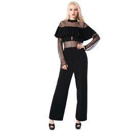 China EleJumpsuit Plus Size Jumpsuits And Rompers For Women New 2017 Lace Hot Strip Pairs Sexy Tube Top Ladies Free Shipping cheap tube tops xl black suppliers