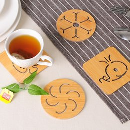 $enCountryForm.capitalKeyWord Australia - New Wooden Placemat Hollow Cartoon Modeling Non-slip Pot Bowl Mats Kitchen Thickened Anti-hot anti-skid Insulation Pads TC180829