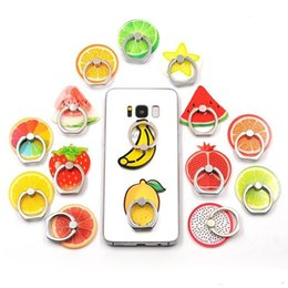 finger holder for phones 2019 - Universal 360 Degree Fruit Multi Designs Finger Ring Holder Phone Stand Mount Bracket For iPhone Samsung With opp bag ch