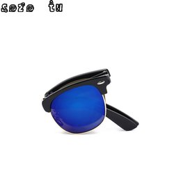 b7a8c3c9391 Vintage Folding Sunglasses Men Women Classic Fashion Brand Designer Rimless Eyewear  glasses oculos de sol feminino sun glasses