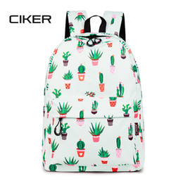 waterproof school book bag Canada - CIKER Women Waterproof Cute Cactus Printing Book Bag Female School Bags Bagpack for Teenagers Girls Laptop Backpack Mochilas