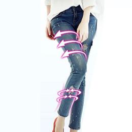 c8998999d5 Al por mayor-2016 Nueva Moda Pantalones vaqueros de las mujeres Pantalones  lápiz de cintura alta Jeans Sexy Pantalones flacos elásticos delgados  Pantalones ...