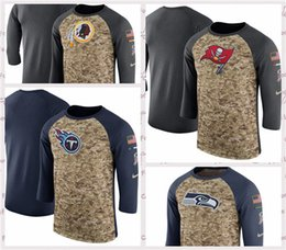 Washington Redskins Tennessee Titan Tampa Bay Buccaneers Seattle Seahawks  Salute to Service Sideline Legend Performance Sleeve T-Shirt f1cf73446