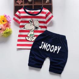 Prussian Clothing Australia - 2Pcs Kids Baby Boys Clothing Sets Boy Girls Cotton Dog T-shirt Tops+Short Pant Summer Children Clothes