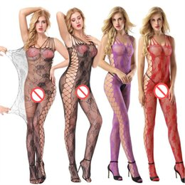 3c8dc83c0 Sexy Bodysuits summer clothes Bodycon Jumpsuit Sexy Clubwear print Rompers bodystocking  criss-cross bandage Playsuit Overalls open crotch