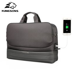 $enCountryForm.capitalKeyWord NZ - Kingsons Men Women Bag 15.6 inch Top-Handle Bag Ladies Handbags Male Shoulder Messenger Business Tote Fashion Briefcase