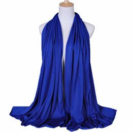 Chinese  Muslim Hijab Scarf Islamic Shawls Wraps Thick Elasic Jersey Fabric Solid Shawls Plain Style 180*85cm manufacturers