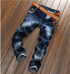 dsel jeans NZ - New Hot Sale Fashion Men Jeans Dsel Brand Straight Fit Ripped Jeans Italian Designer Distressed Denim Jeans Homme!A625