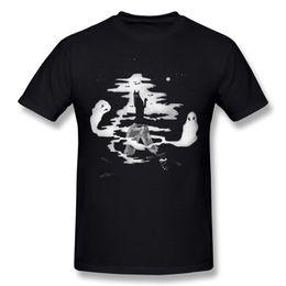 Night Shirt Men Canada - Hot Sell Men 100% Cotton Spooky night Tee-Shirts Men Round Neck Gray Short Sleeve T Shirts Plus Size Design Tee-Shirts