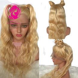 pretty brazilian human hair 2018 - Fantasy #613 Blonde Wigs Pretty Wave Brazilian Remy Human Hair Lace Front Wig Pre Plucked Natural Hairline with Baby Hai