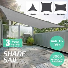 300D imperméable auvent de rectangle de polyester filet de protection contre le soleil filet couleur d'ombrage extérieur de voile d'ombrage noir gris