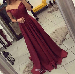 Hot Teens Dresses NZ - 2018 New Arrival Elegant Burgundy Evening Dresses Hot A Line Teens Off the Shoulders Prom Dresses Party Wear Gowns Long