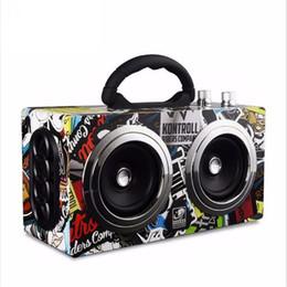 Computer Loudspeakers Canada - Portable Bluetooth Speaker Wireless Outdoor Stereo Bass Sound HiFi Loudspeaker 20W High Power Big Speaker with TF Card FM Radio