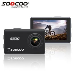 """12mp Action Camera NZ - SOOCOO S300 Action Camera 2.35"""" touch lcd Hi3559V100 + IMX377 4K 30fps 1080P 120fps EIS Wifi 12MP remote external mic sport cam"""