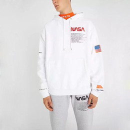 Wholesale vintage hip hop hoodie for sale – custom 18FW HERON PRESTON NASA Hoodies Vintage Black White New Outerwear Sweatshirts Fashion Men Clothing Hip Hop Hooded Hoodies HFLSWY156