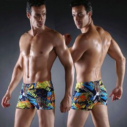 37999ff3c9e Hot Sales Vintage Allover - Print Elastic Band With Ties Sexy Swim Trunk  2019 Big Men Plus Size XXX men's Swimwear
