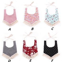 lace aprons 2018 - Puseky Baby Bibs Waterproof Boho Lace Baby Girl Bib Saliva Towel Infant Bib Bandana Bibs Tassel Burp Cloth Feeding Apron