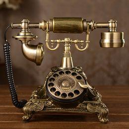 Discount european telephone antique - factory direct sales boutique European antique telephones Retro turntable landline 117AS