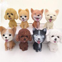 Interior Accessories Dynamic Car Ornaments Teddy Dog Nodding Puppy Toys Car Dashboard Decor Toy Lovely Wobble Shaking Head Dolls Auto Interior Accessory Ornaments