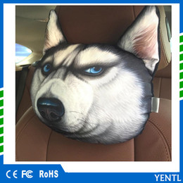 $enCountryForm.capitalKeyWord Canada - Car air purification Activated Carbon Breathe 3D Car Headrest Pillow Cool Dog Face Seat Covers Head Neck Rest Cushion Headrest Pillow Pad