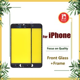 Touch screen lcd iphone 5s online shopping - Original Front Touch Screen Panel Outer Glass Lens Cold Glue Middle Frame Bezel for iPhone plus S Plus S SE