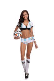 Women Costume Cheerleader UK - Girls Baby Cheerleader Football Baby Team Sports Suit Costume Nightclub Stage Clothing Role Play Cosplay Uniform