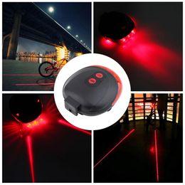 $enCountryForm.capitalKeyWord Canada - Hot 5 LED 2 Laser Bike light 7 Flash Mode Cycling Safety Bicycle Rear Lamp waterproof Laser Tail Warning Lamp Flashing