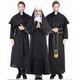 $enCountryForm.capitalKeyWord NZ - Adult Black Priest Long Robe With Cape Suit Costumes Cosplay For Man Abbe Halloween Easter Church Party Cosplay