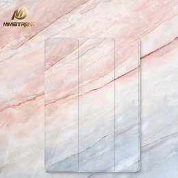 "Discount 1.5 tablet - Mimiatrend 2017 Marble Grain PU Case for iPad Pro 9.7"" Air Air2 Mini 1 2 3 4 5 Tablet Case Shell + Screen Protector"
