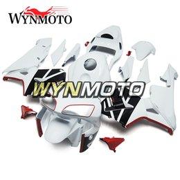Honda F5 Canada - White Red Motorcycle Full Body Kit Bodywork ABS Injection Bodywork For Honda CBR600RR F5 Year 2003-2004 03-04 Complete Fairing Kit Body Kit