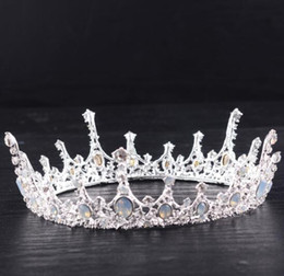 Wholesale 2018 New Arrive High Quality Beautiful Elegent Headband Jewel Accessories Crystal Bridal Tiara Crown Wedding Bride Princess Full Crown