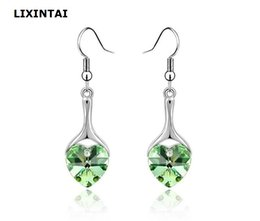 84a812948 12 pairs lot,LIXINTAI Best-selling heart-shaped Inlaid Austria Crystal Fine  jewelry Earrings Made with Swarovski Crystal Not fading Earrings