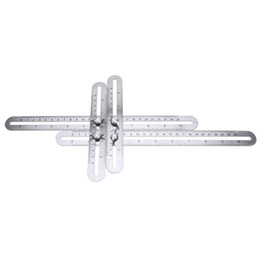 Wholesale Multi Angle Ruler Stainless Steel Angle Protractor Foldable Template Tool Four-sided Tile Flooring Measuring Tool Woodworking