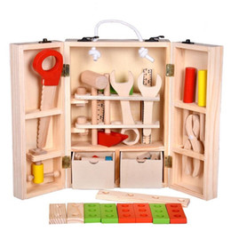 Discount combination toy nut - New Arrival 1set Maintenance Box Wooden Toy Nut Combination Chirstmas Birthday Gift Baby Wooden Toys Kids Multifunctiona