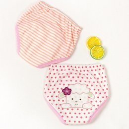 China 2 Pcs set Baby Training Pants Baby Diaper Reusable Nappy Washable Diapers Cotton Learning Pants Kids Wear cheap wearing diapers suppliers