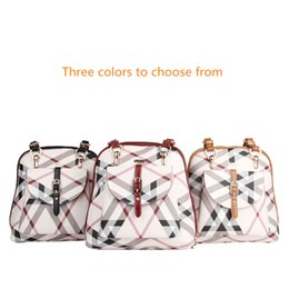 Travel Pillow Free Shipping NZ - Free shipping Travel designer Polyester Backpack Outdoor Student Bag Large-capacity retro hit color mom backpack Pillow-shaped Three colors