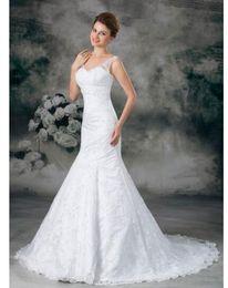 $enCountryForm.capitalKeyWord NZ - Glorious Halter Wedding Dresses Trumpet mermaid Sweethear Floor-length Chapel Pleats