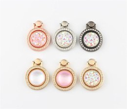 Package color watches online shopping - Diamond jewel bracket mobile phone universal ring bracket small pocket watch metal mobile phone ring buckle ring bracket with opp package