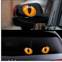 $enCountryForm.capitalKeyWord Canada - 2pcs 12*10cm Cute Simulation Cat Eyes Car Stickers 3D Vinyl Decal for Rearview Mirror Car Head Engine Cover Windows Decoration