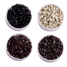 silicone rings for extensions NZ - Z&F Micro NANO Rings Links Beads Hair Beads silicone Micro Rings links For Extensions Extended (4.0mm*2.7mm*3.0mm ) 1jar=1000pcs
