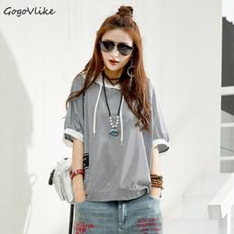 Girls Tassel Shirt Australia - Punk Top Hooded 2018 Summer Women Tassel Tops Women T shirt Pullovers Plus Size shirts girl Cotton Print Hip Hop LT174S50