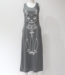 Chinese  Summer and autumn, new cartoon cat prints of cartoon cat, sexy bag and buttock show thin dress. manufacturers
