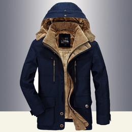 Wholesale men military style winter coat resale online – Men Winter Jacket Men Military Style High Quality Thicken Fleece Parka Coat Cotton Padded Jacket Plus Size Xl for Men