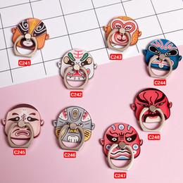 beijing opera masks 2019 - Gift Beijing Opera Facial Masks Phone Stand For iPhone 7 6s Samsung For Mobile Phones Cute Opera Make-ups Finger Ring Ho