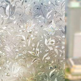 $enCountryForm.capitalKeyWord Australia - New Liplasting 3D Self Adhesive Frosted Stained Sticker Glass Static 100X45cm PVC Decorative Window Film Home Privacy Decor