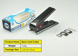 Black Cutters Australia - Free DHL High-Quality Sim Cutter Standared Sim to Nano Sim Card Cutter for iPhone Samsung Nokia Sony LG Black color
