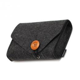 Data Power Bank NZ - New Fashion Power Bank Storage Bag Mini Felt Pouch For Data Cable Mouse Travel Organizer Electronic Gadgets Organizador