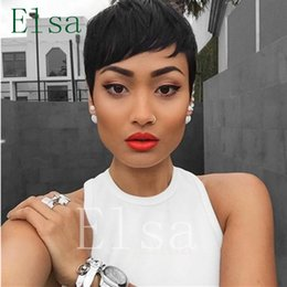 $enCountryForm.capitalKeyWord NZ - Brazilian Hair Wigs short Hairstyle For Black Women Cheap Glueless Full Lace Wig Natural Lace Front Human Hair Wigs
