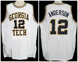 Kenny Anderson Georgia Tech Retro Classics Basketball Jersey Mens  Embroidery Stitched Custom any Number and name Jerseys cb36520b6